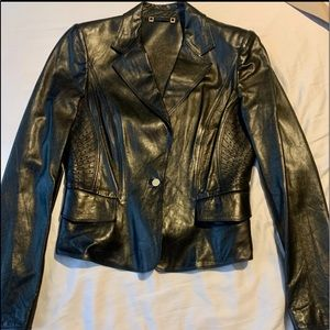 Gucci Tom Ford era runway bk leather blazer